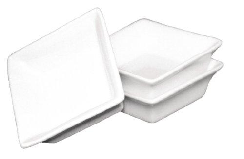 Olympia miniature y136 Plat Carré, Blanc (Lot de 12)