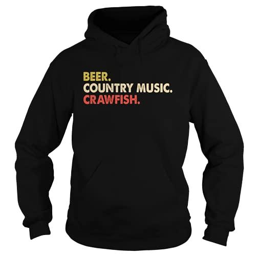 BEER COUNTRY MUSIC CRAWFISH gift Xmq Black Hoodie S Black