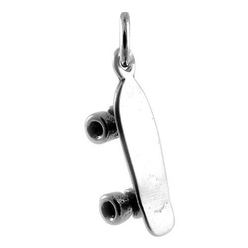 TheCharmWorks 925 Sterlingsilber Skateboard Charm Anhänger