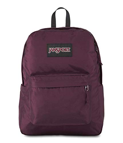 JanSport SuperBreak Plus Laptop Backpack - Lightweight School Pack, Dried Fig