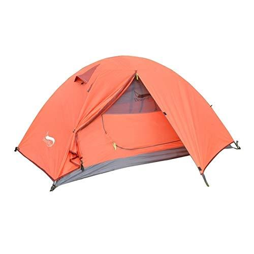 Ai-lir Event Zelt 1-3 People Zelt Höhen-wasserdichte Tragbare Aluminium-Pol-Reisezelt, Rucksackzelt (Color : 1 Person Tent orange)