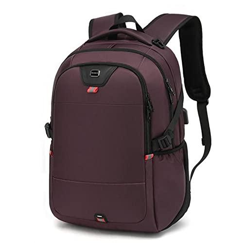 Mochila escolar impermeable para hombre de mujer, ajuste portátil de 17 pulgadas, recarga USB de múltiples capas de espacio de viaje bolsa masculina