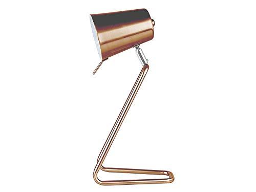 Leitmotiv Z Design metalen tafellamp, 25 W, koper met gesatineerde afwerking, diameter 9 cm, hoogte 35 cm