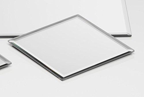 Sandra Rich Glasplatte Spiegelplatte Mirror eckig 0,5 cm Ø 15,0 x 15,0 cm