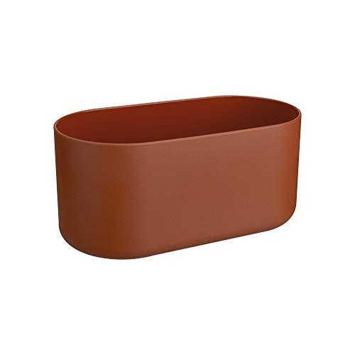 Elho B.for Soft Duo 27 bloempot baksteen binnen Ø 27 x H 12,6 cm