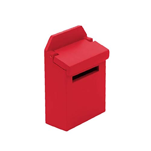 NorCWulT Simulación Buzón muñeca de Juguete para la casa Conjunto Mini buzón de Madera para la decoración roja