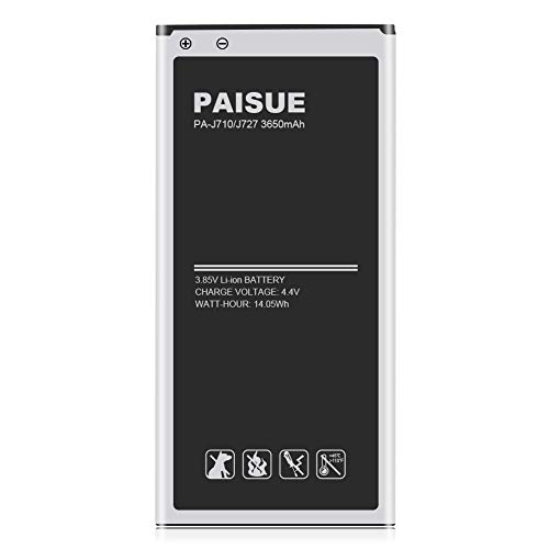 Galaxy J7 Battery, PAISUE 3650mAh J7 Prime Battery Replacement for Samsung Galaxy J7 Prime J7 Perx J7 Sky Pro J710 J727 J727R4 J727T1 SM-J727T SM-J727 Phone (2017 Ver)