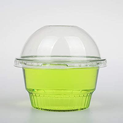 Golden Apple 8 oz Clear Plastic Cups for Ice Cream, Snack bowl 4 type cups