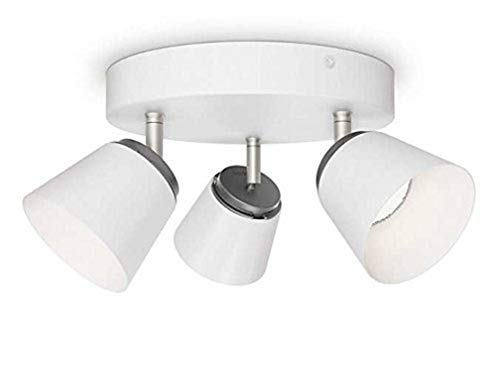 Philips myLiving LED Spot Dender 3-flammig Metall 4 W Weiß 533433116