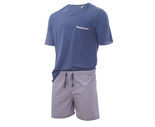 Royal Class Herren Shorty Pyjama - Schlafanzug Kurz - Bio Organic XL 56