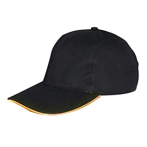 LED Hut, Unisex Luminous Bling Baseball Led Cap Verstellbare Kappen-Umfang: 50Cm-58Cm Für Jagd, Jogging, Angeln Outdoor Nacht Sport & Parties,Gelb