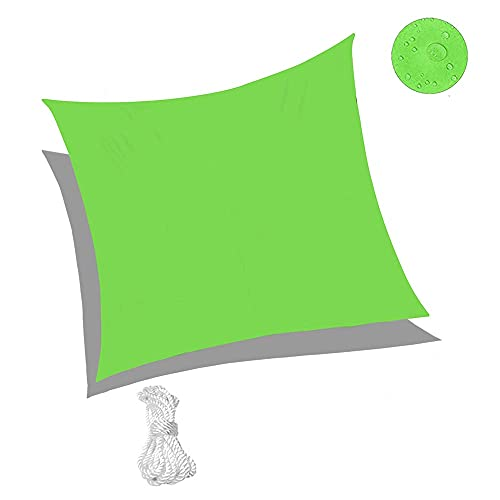 Sunnykud 10'x16'5'' Sun Shade Sail Waterproof Green Square Canopy Awning Perfect for Outdoor Garden Patio Backyard Activities