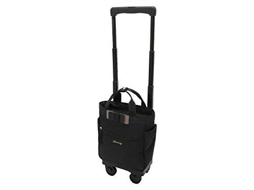 [スワニー] スーツケース ルバンドミニ キャリーケース ソフトキャリー ピギーケース 4輪ストッパー 60mmキャスター 39cm 7ー10Lリッター Dー408 (TS15) ブラック