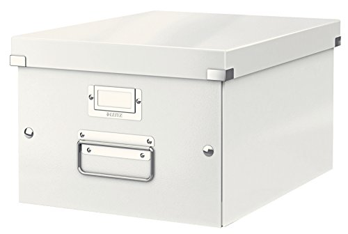 Leitz 60440001 Mittelgroße Aufbewahrungs- und Transportbox (Für A4, Click und Store) weiß
