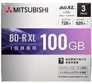 三菱化学メディア 4倍速対応BD-R XL 3枚パック 100GB ホワイトプリンタブル VBR520YP3D1