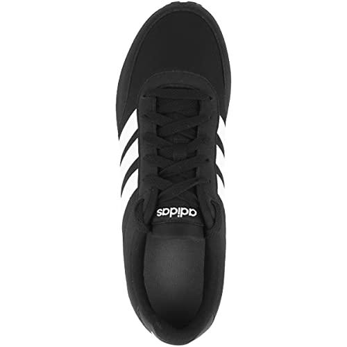 ADIDAS V Racer 2.0, Zapatillas Hombre, Negro (Core Black/Solar Red/Footwear White), 43 1/3 EU