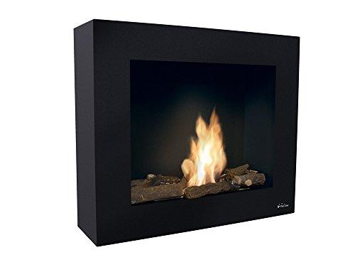 PURLINE BESTBIO AF-BB - Biochimenea de suelo o pared con regulador de llama, 2000W, Negro