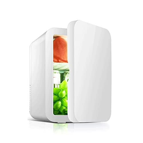 QSWL Mini Refrigerador, Refrigerador Compacto 8L Refrigerador Termoeléctrico Regalo Y Calefacción Refrigerador Coche para Viaje Familiar (Color : White, Size : 25X16X15.5CM)