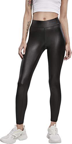 Urban Classics Damen Ladies Imitation Leather Leggings, Black, M