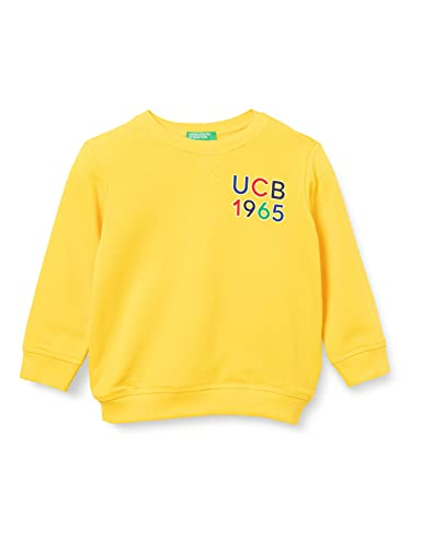 United Colors of Benetton Maglia G/C M/L 3J70C155R Sudadera con Capucha, Amarillo 3n7, 98 cm para Niños
