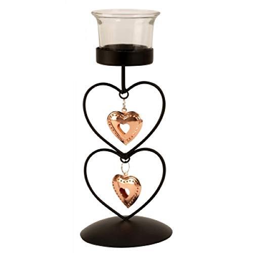 Shopcenter2000 Teelicht-Ständer mit Bronze Herz'