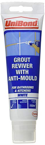 UniBond Grout Reviver Sponge Pack, Waterproof Anti-Mould Tile Grout Reviver, Grout Whitener for...