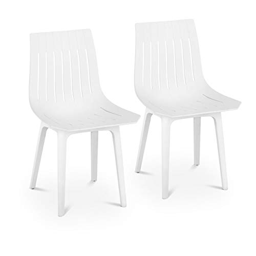 Fromm & Starck Star_SEAT_07 Stuhl 2er Set bis 150 kg Sitzfläche 47 x 42 cm weiß Kunststoffstuhl Küchenstuhl