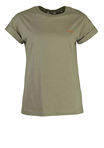 rich&royal Damen Boyfriend Coloured T-Shirt, Grün (Safari Green 454), Large (Herstellergröße: L)