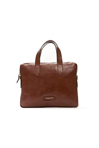 The Bridge Cartella Ventiquattrore briefcase pelle borsa tracolla porta Pc 14' apertura zip uomo man marrone Cm 39x30x6 cm 46407101