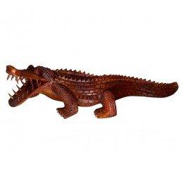 Schönes Krokodil Holz Tier Echse Reptil