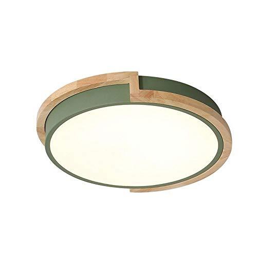 LED Rund Deckenleuchte Modern Minimalismus Holz Stil ultra-dünnen Deckenlampe Kreativ Wohnzimmer Schlafzimmer Esszimmer Fernbedienung Deckenbeleuchtung eiche Deckenlampe Holz Lampe Deckenleuchten