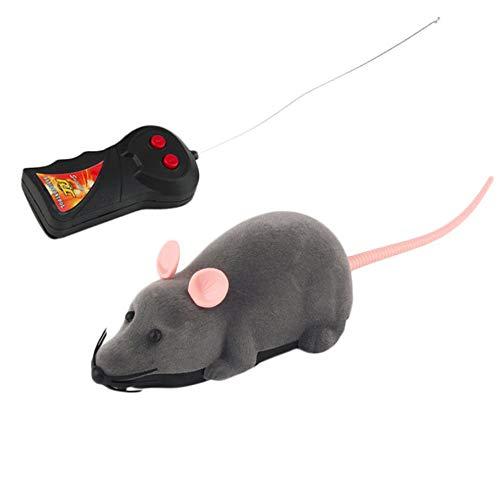 Jzhen Wireless Giocattolo per Gatti,Telecomandato Ratto Giocattolo per Animali Domestici,Giochi Elettronici