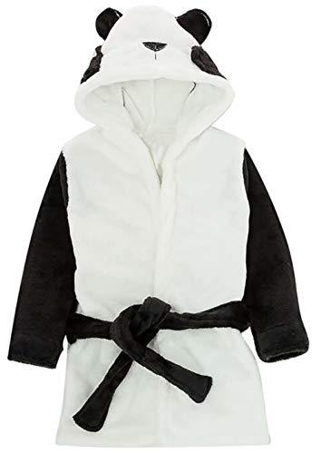 Albornoz de forro polar para niño, unisex, con capucha, con capucha, para niños, Negro, 3-4Years/Tag120