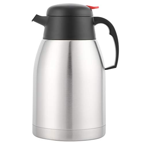 Jarra térmica, jarra térmica de 2 l, termo al vacío con aislamiento de acero inoxidable 304, jarra con retención de calor