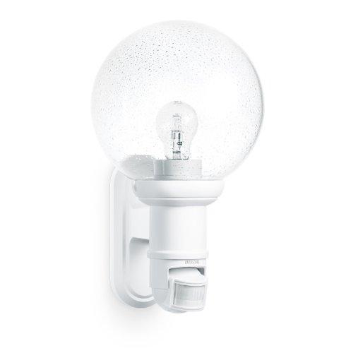Steinel Außenleuchte L 560 S weiß, max. 60 W, E 27 , 140° Bewegungsmelder, 12 m Reichweite, klassisches Design