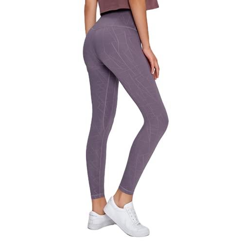 QTJY Pantalones de Yoga de Cintura Alta para Mujer Pantalones Deportivos Deportivos Pantalones Deportivos Delgados con Levantamiento de Caderas y Pantalones Deportivos para Celulitis F S