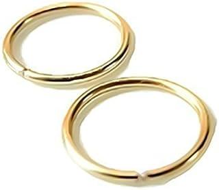 24G 22G 20G 18G 16G 14K Yellow Gold Filled Seamless Sleeper Hoop Earrings 6mm 7mm 8mm 9mm 10mm 11mm 12mm