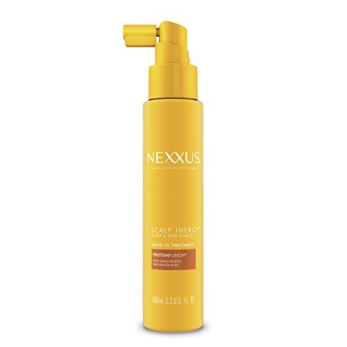 Nexxus Scalp Inergy Leave-in Conditioner For Damaged Hair, Deep Conditioner, Paraben-Free 3.3 oz