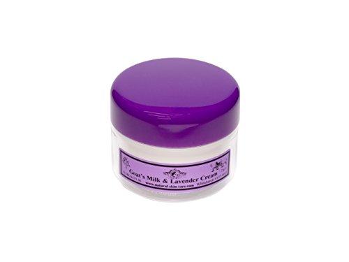 Crème Lait de Chèvre & Lavande 75g. Pour le psoriasis eczéma peau sèche Dermatite rosacée Sensible, fabriqué par Elegance Natural Skin Care en Grande-Bretagne