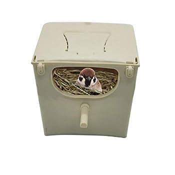 Prom-note Nid D'oiseau Cage À Oiseaux Maison Oiseaux Nichoir Boîte D'accouplement D'élevage en Plastique pour Perruche Perroquet Cockatiel