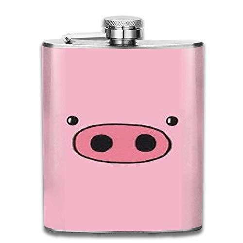 Presock flaschen für schnaps, niedliches schwein schweinchen tier gemustert mode tragbare edelstahl flachmann whisky flasche für männer und frauen 7 oz
