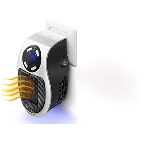 QREZ Calefactor Electrico Portatil, Calefactor Electrico Bajo Consumo Enchufe 500W Cerámico Heater Mini Cerámico Protección De Sobrecalentamiento Y Volcado para Hogar Y Oficina,with Remote Control