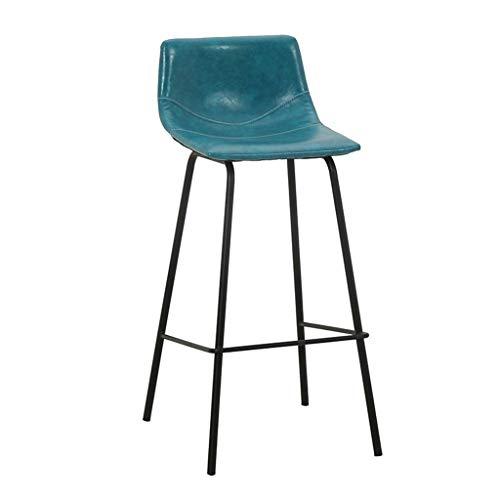 YUiiTI barstoel smeedijzeren kas kruk moderne stoel huishoudtextiel stoel café voorstoel met pedaal antislip zitting