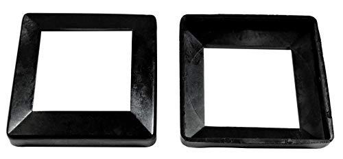 SN-TEC Abdeck Rosetten Eckig für Geländer | Rohre | Heizungen usw, Schwarz/Weiß/Grau (10 Stück) (Aussen 60x60mm / Innen 40x40mm, Schwarz)