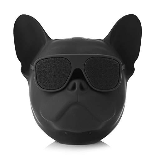 Altavoz Bluetooth, reproductor de música de sonido estéreo con forma de perro de memoria grande de 32 G, altavoz inalámbrico portátil con función de radio y función de comando de voz para escuchar can
