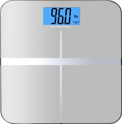 BalanceFrom Digital Body Weight Bathroom Scale with Step-On Technology and Backlight Display, 400 Pounds, With MemoryTrack