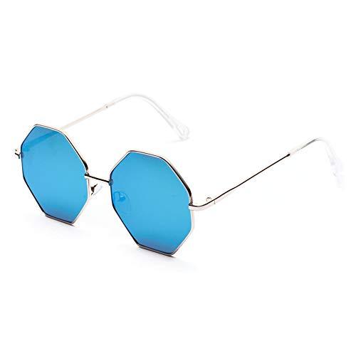 YIERJIU Sonnenbrillen Gradient Lens Sonnenbrille Damen Mode Achteckige Sonnenbrille Rosa Brillen Frauen Lentes De Sol Mujer,Blau