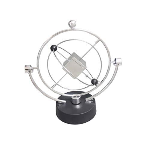 Garneck Movimiento Perpetuo Juguete Cinético Vía Láctea Aparato Orbital Órbita Celeste Movimiento Perpetuo Modelo Físico Adorno de Escritorio para Oficina en Casa (Estilo 3)