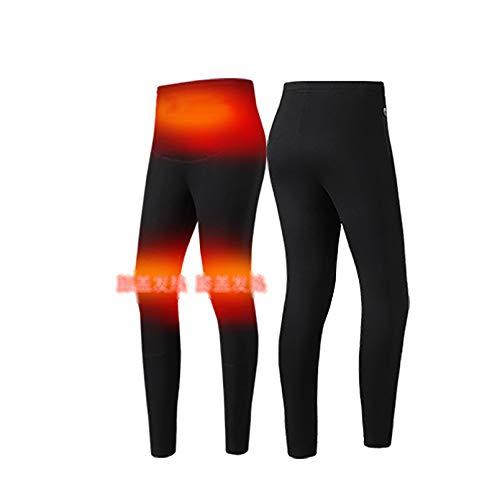 Conjuntos De Ropa Interior Térmica para Hombres Frío Extremo Calefacción Chaqueta De Motocicleta Pantalones Largos De Moto Traje Eléctrico(No Incluye Power Bank),Pants,3XL