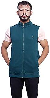 CARBON BASICS Men's Regular Jacket, Half sleeves, Stand Collar Winter Jacket